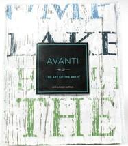 1 Ct Avanti Linens The Art Of Bath Lake Words Shower Curtain 13077H 100%... - $23.99