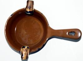 Vintage Enameled metal Frying Pan Ashtray // Kitsch // Novelty - $8.50