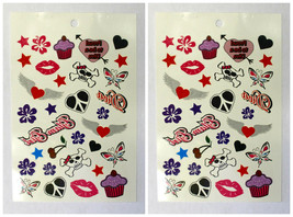 Tattoos Special Design Set of 2 Style 2 Glam Girl Temporary Tattoos