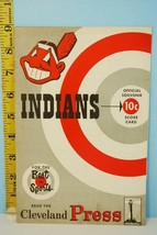 1952 Cleveland Indians Baseball Scorecard Program v Chicago White Sox Ap... - $39.55