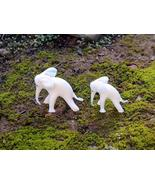 Handcrafted Art Glass White Elephants - Set of Two (2) - Gorgeous, Mint ... - $20.00