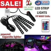 Car Interior Neon LED Light Strips Lights with IR Remote Lighting Kit At... - $14.84