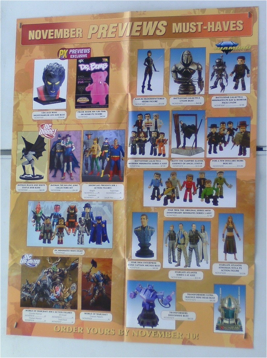 STATUE/MINIMATE/FIGURE POSTER:BATMAN/SUPERMAN/STAR TREK +