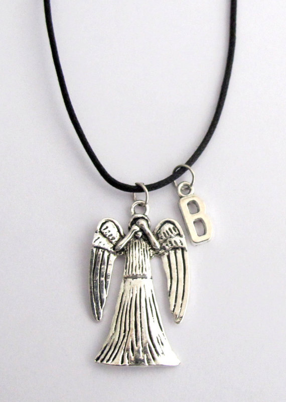 Doctor Who Inspired Weeping Angel Pendant Necklace Dr Doctor Who