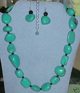 Gorgeous Huge Genuine Natural Turquoise Nugget Necklace