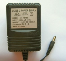 SY-13100 AC Adapter Power Supply 13.5 Volt DC 1A (+) Positive Polarity Plug - $18.80