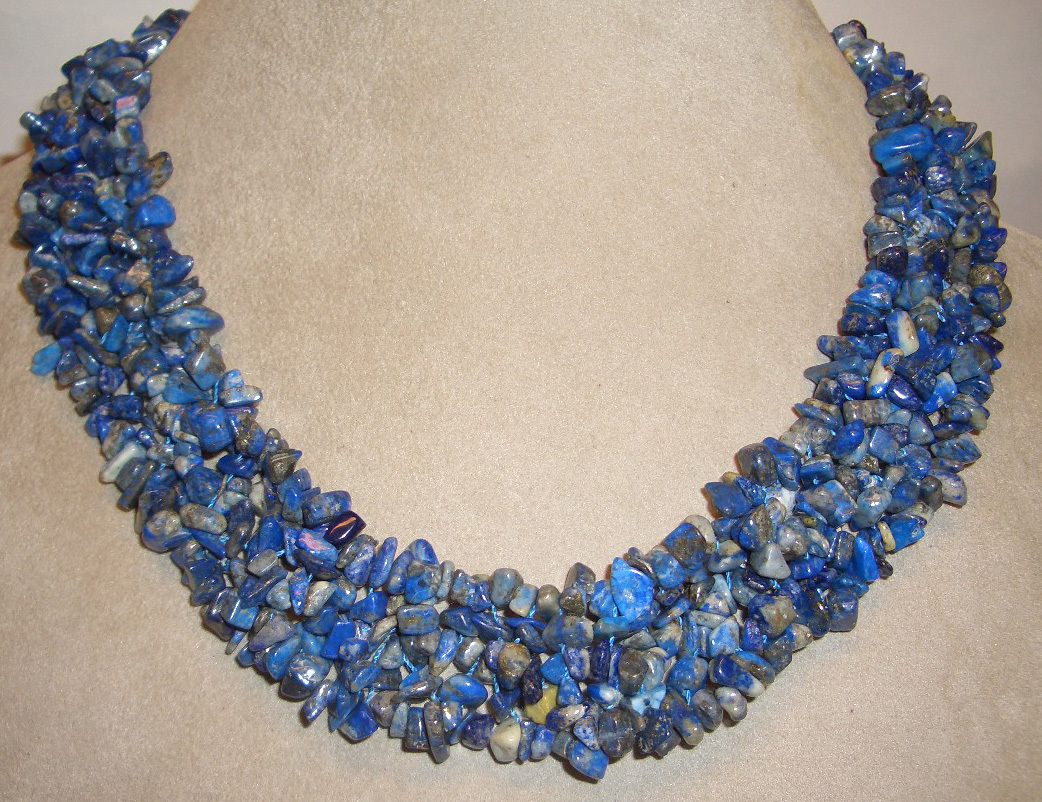 "Breathtaking Genuine 20"" Lapis Lazuli  Necklace"