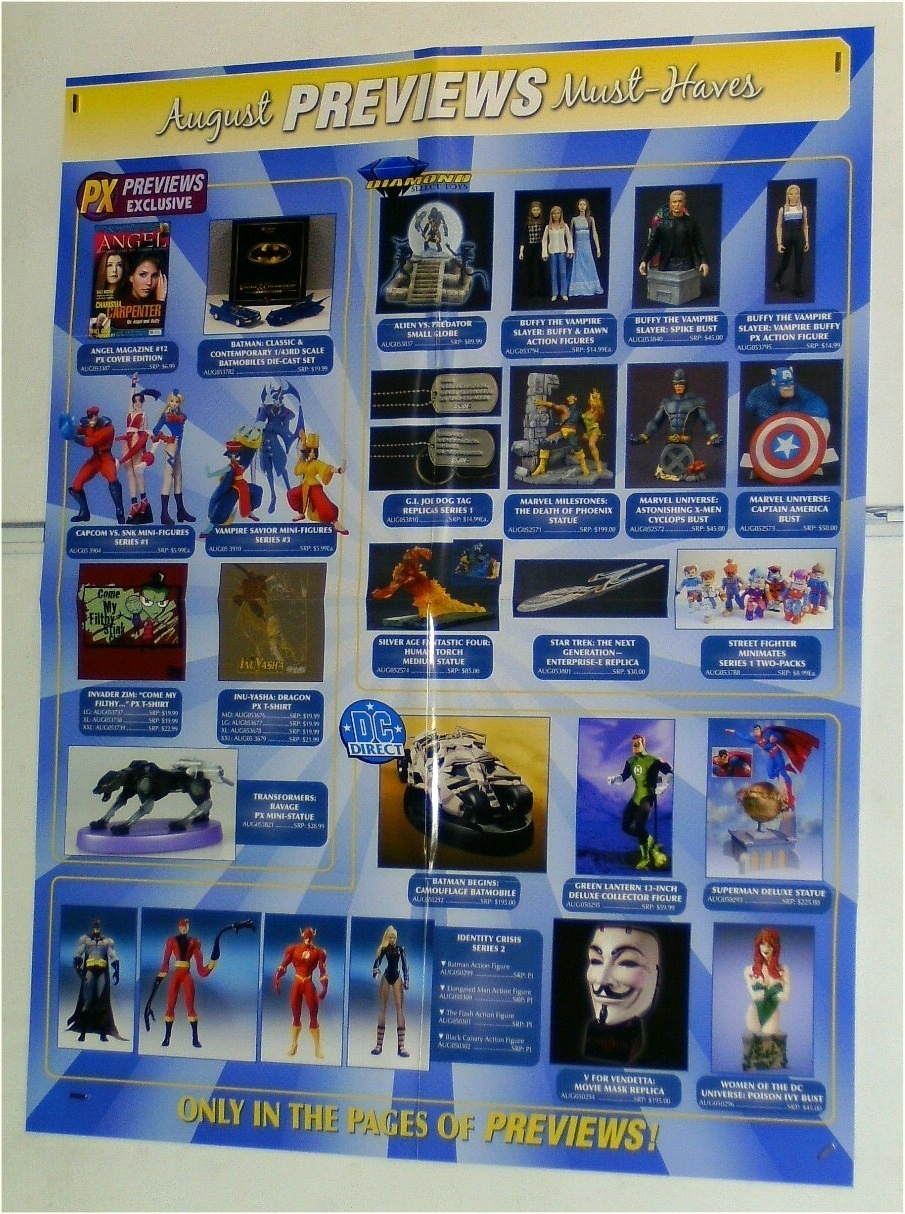FIGURE/BUST/TOY POSTER:X-MEN/BATMAN/SUPERMAN/CAPTAIN AMERICA