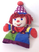 Gymboree Clown Hand Puppet Plush Doll Circus Stuffed Toy Pretend Play 13in - $14.94
