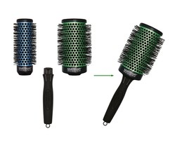 "Olivia Garden Ceramic Ion 3pc Multi Thermal Brushes 2 1/8"", 1 3/8"", & One Handle - $29.99"