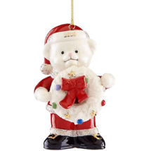 Lenox 2018 Teddy Bear Figurine Ornament Annual Santa Claus Christmas Gif... - $33.66