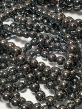 "Magnetic Hematite Round Beads Gemstone 15.5"" Strand Choose 5mm or 7mm"