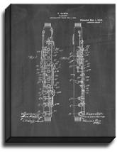 Clarinet Patent Print Chalkboard on Canvas - $39.95+