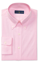 Polo Ralph Lauren Pink Dress Shirt, Size 16.5 / 42, MSRP $125 - $69.29