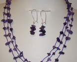 Amethyst necklace earring set thumb155 crop