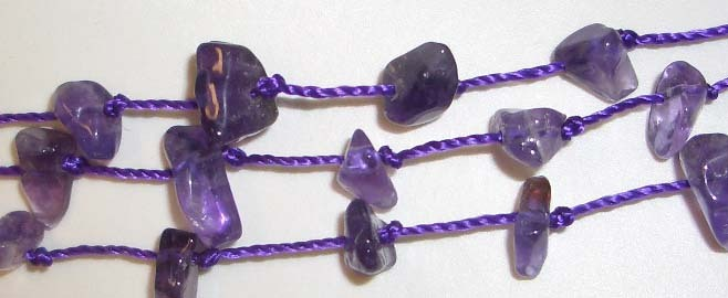 AMAZING AMETHYST NECKLACE WITH  EARRINGS*L@@K*