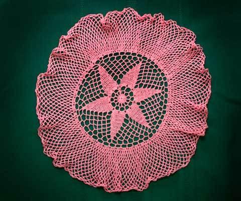 Doily pink star