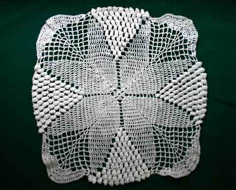 Vintage Crocheted Doily in White