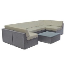 Patio Wicker Sofa Set Sectional Couch Rattan Lounge Outdoor Furniture w/... - $1,176.52