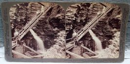 Stairways Central George Chasm, Havana Glen, NY Stereoview - $18.95