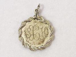 Vintage ELCO sterling silver letter SCH Pendant - $15.00