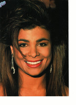 Paula Abdul teen magazine pinup clipping dangling silver eaarings Bop