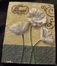 Cute Momentum Brand Molded Plaster Wall Plaque - CHERISH - VGC - PRETTY ... - €16,24 EUR
