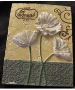 Cute Momentum Brand Molded Plaster Wall Plaque - CHERISH - VGC - PRETTY ... - $19.79