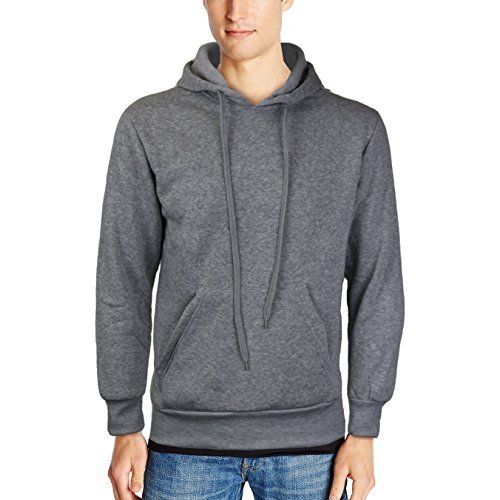 Men's Athletic Drawstring Fleece Lined Sport Gym Sweater Pullover Hoodie (XL, Li