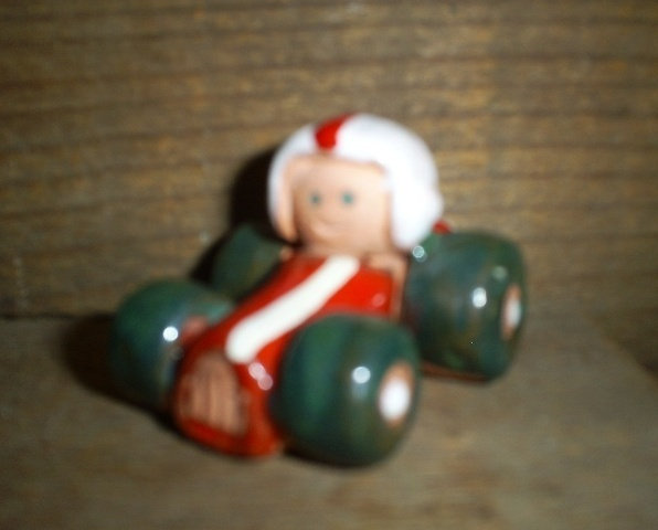 Enesco Terra Cotta Little Red Racer, 1976 Very Good Condition, Collectible