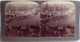 Stockholm & Falls at Husqvarna, Sweden Stereoview - $9.95