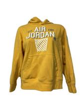 Vintage Nike Air Jordan Flight Kids Youth Yellow Hoodie Sweatshirt Size L - $24.74