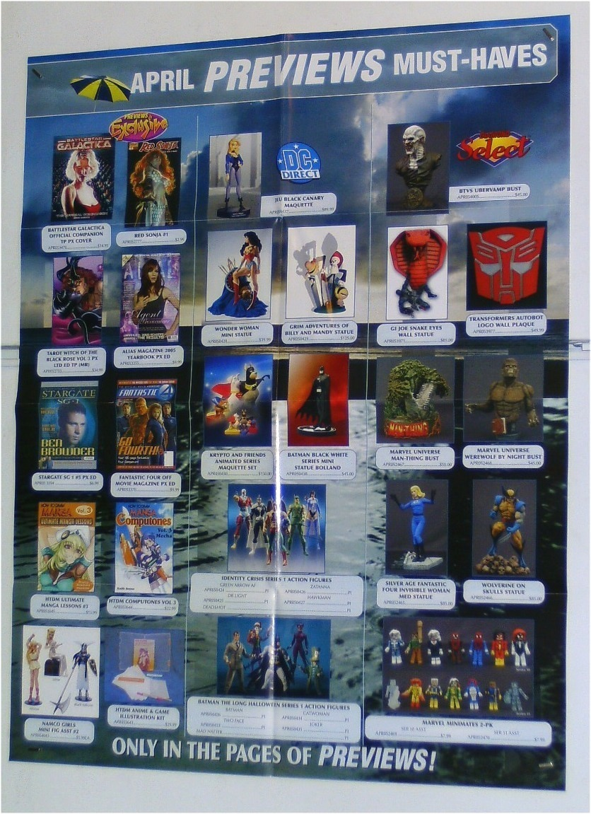 BUST/STATUE/FIGURE TOY POSTER:WONDER WOMAN/BATMAN/WOLVERINE/MARVEL MINIMATES/JLA