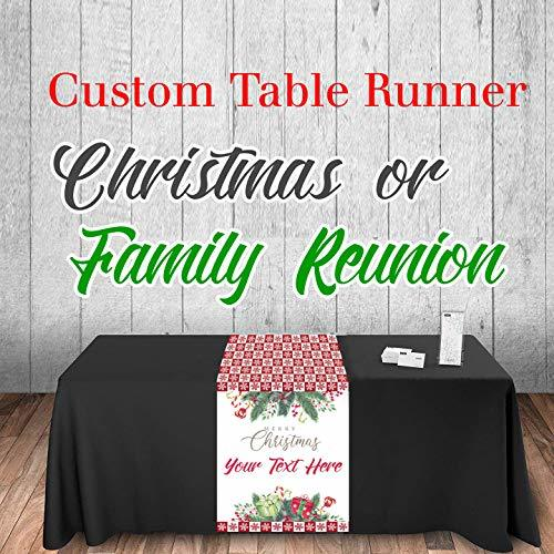 Custom Table Runner Christmas or Family Reunion 2019-2020 Customize with your ow