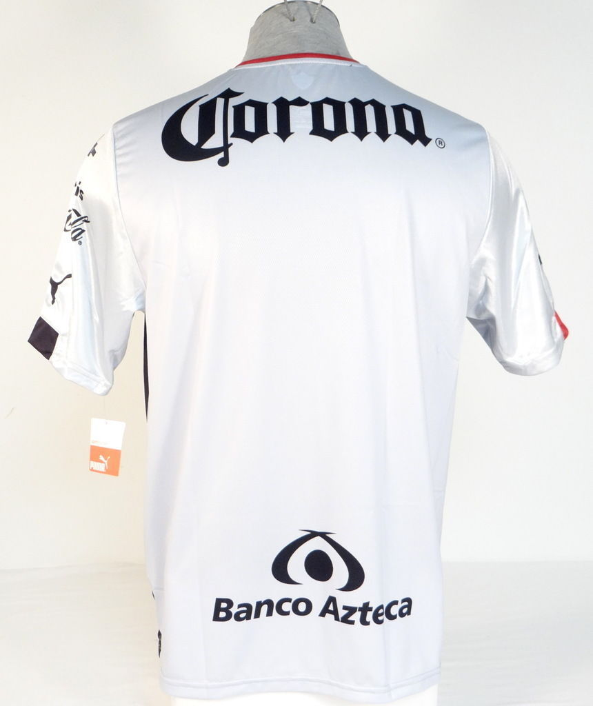 17d59682425 Puma Guadalajara Mexico Atlas Football Club Silver Short Sleeve Jersey Mens  NWT