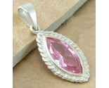 Topaz y0196marquis pink 925 sterling silver pendant thumb155 crop