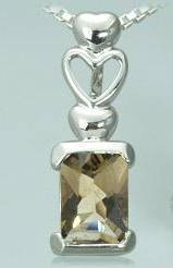 Smoky quartz .075 radiant cut