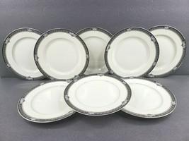 "8 Mikasa Grande Ivory Gothic Rose 7.5"" Salad Plates Set Vintage Japan L2... - $79.07"