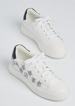 NEW Pair Rue21 Wild Diva Lounge White Glitter Star Sneaker Shoe