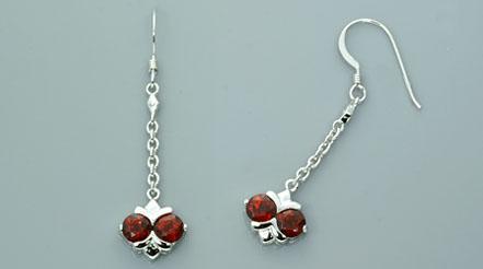 Sterling Silver 2.50ctw Garnet Earrings