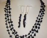 Sunsitara y421blue splendid star gem nugget necklace earring set thumb155 crop