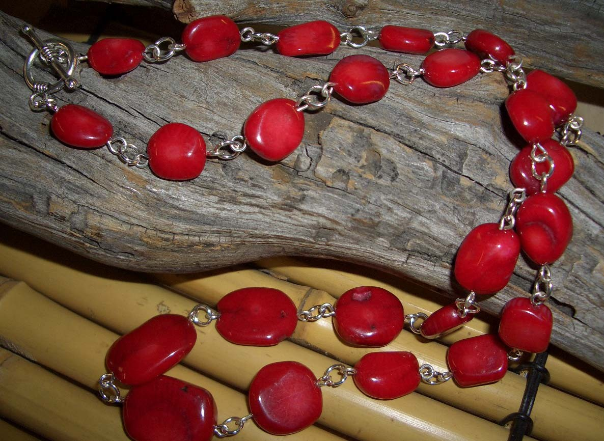Copy of pacific bamboo coral necklace