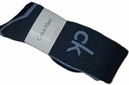 Calvin Klein 3 Pair Cotton Blend Cushioned Sole Men's Socks, Blue (Shoe: 7-12) - $18.99