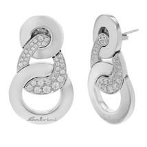 Salvini 18K White Gold 68 Diamonds Ladies Stud Earrings 13.4 g - $1,999.00