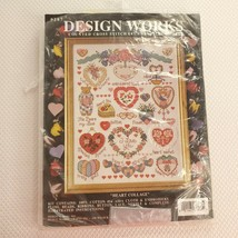Design Works Counted Cross Stitch Kit Heart Collage Kathy Orr Design Vintage - $20.76
