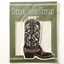 Ganz Screen Door Saver Western Boots Cowboy Black 2 pc Magnet Set Fix Holes New - $10.40