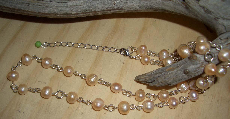 Pearl y402unique l gem necklace