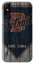 Detroit Tigers Wood Fence iPhone XS, XS Max, XR, X, iPhone 6 7 8 Plus Case - $16.99
