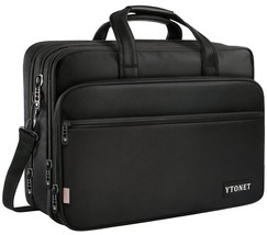 17 inch Laptop Bag, Travel Briefcase Organizer, Expandable Large Hybrid ... - $41.97