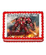 Avengers Hulkbuster Edible Cake Image Cake Topper - $8.98+
